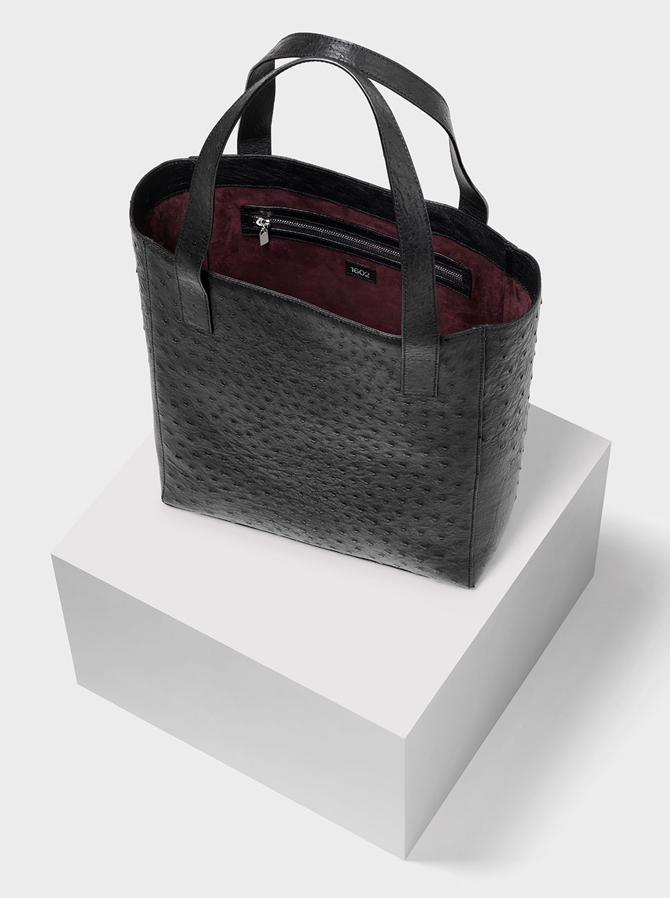 The Ned ostrich bag black